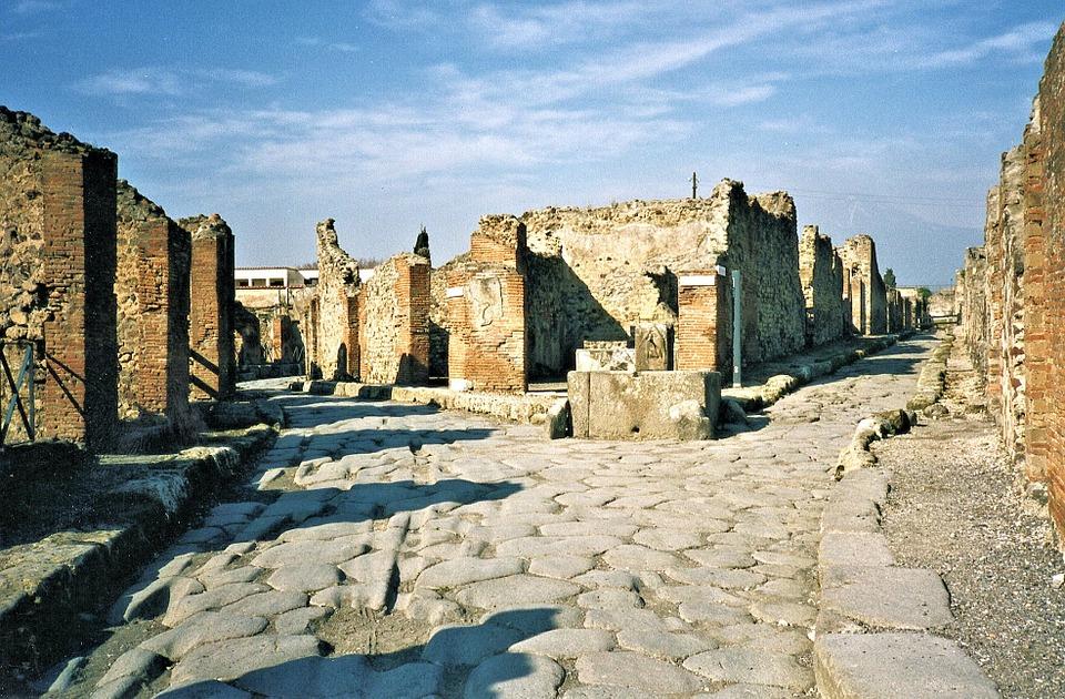 Italy Volcano Ruins Pompei Beauty